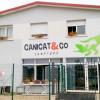 Logo Canicat&Co sur la facade de l'entreprise au spray