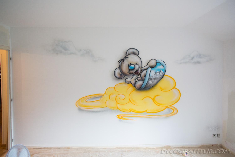 Nounours Snowboarder sur le nuage de DBZ  GRAFFEUR DECO